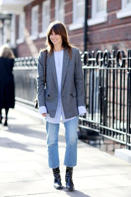 Le Fashion Blog Fall Street Style Bands Long French Cuff Shirt Shoulder Bag Cropped Flared Denim Leather Ankle Boots Via Grazia