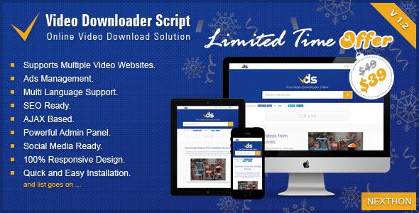 Video Downloader Script v1.2 - All In One Video Downloader