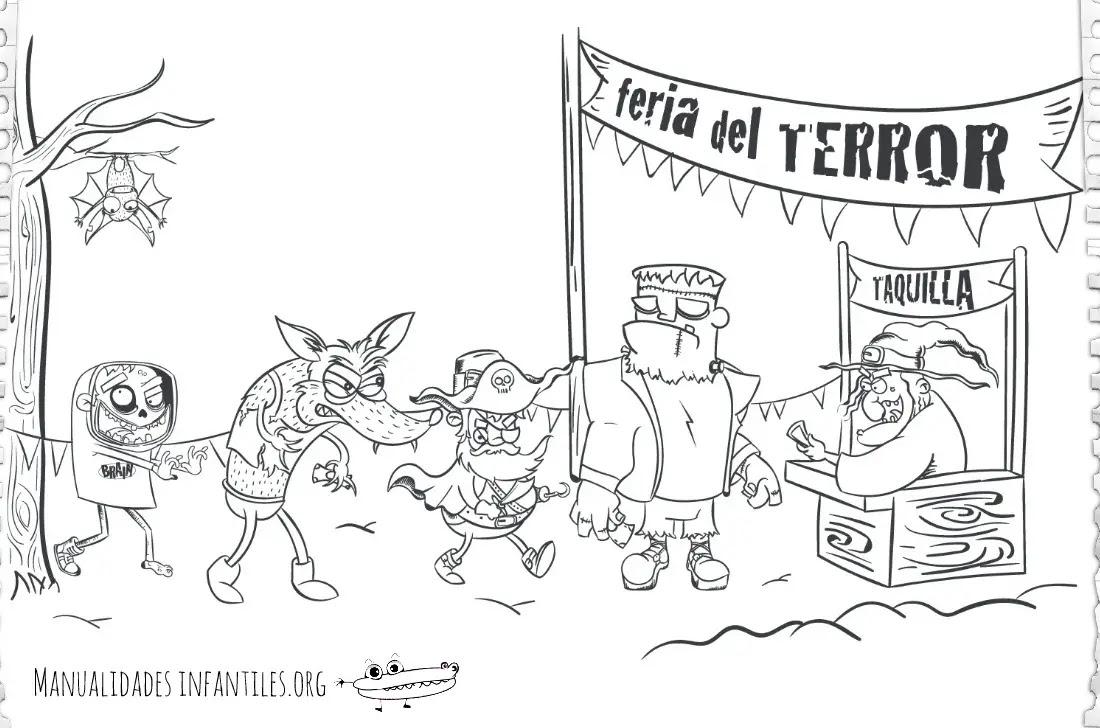 Dibujo De La Feria Del Terror Actividades Para Niños Manualidades
