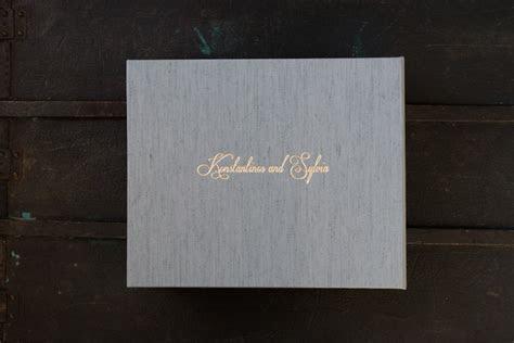 Fine Art Wedding Album with Image & Fabric Cover