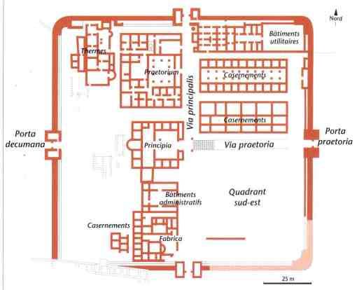 Camp de Rapidum construit en 122 ap. J. -C. pour le cantonnement de la 2ème cohorte des Sardes