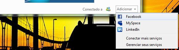 Integrando o Facebook ao MSN (Foto: Reprodução/TechTudo)