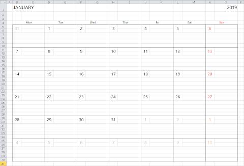 2020 Calendar Download Excel