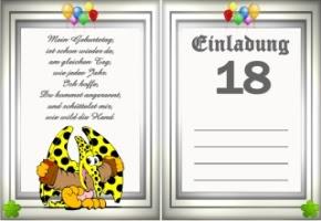 Einladungstexte Zum Geburtstag 18