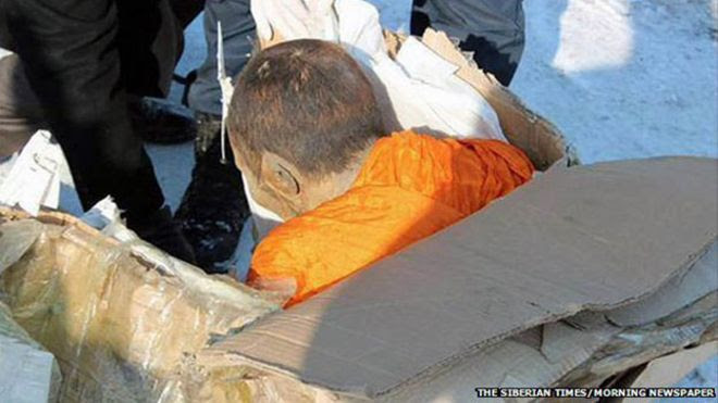 Xác ướp một nhà sư được tìm thấy tại Mông Cổ