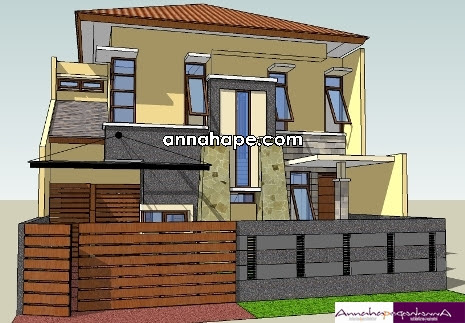 99 desain pagar yang serasi dengan rumah minimalis mediteranian gambar