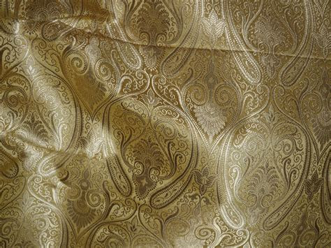 Beige Brocade Fabric by the Yard Brocade for vest jacket