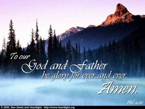 Inspirational illustration of Philippians 4:20