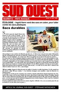 sacs coton biarritz pays basque magasins boutiques ingrid harm creations journal sud ouest. Black Bedroom Furniture Sets. Home Design Ideas