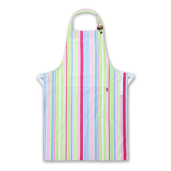 100% Cotton Multi Stripe Bib Apron