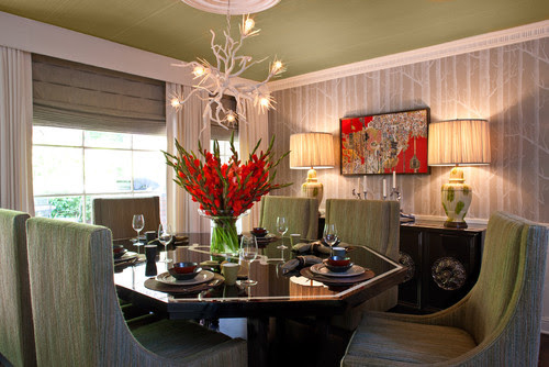 Hollywood Residence eclectic dining room