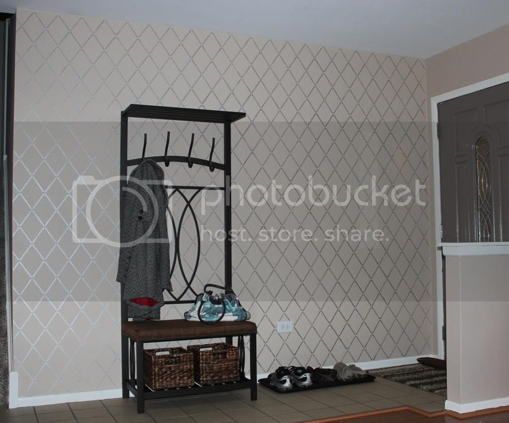 Metallic Paint Stenciled Wall Cutting Edge Stencils