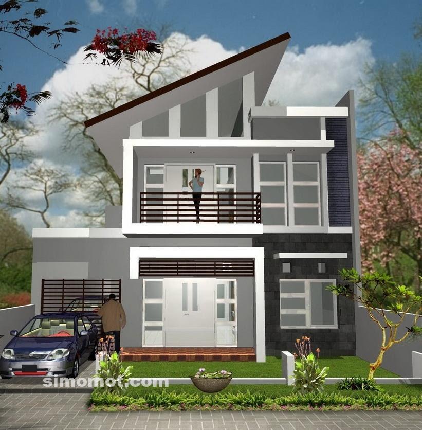 Rumah Minimalis Omah Eksterior Rumah Minimalis Lantai 2