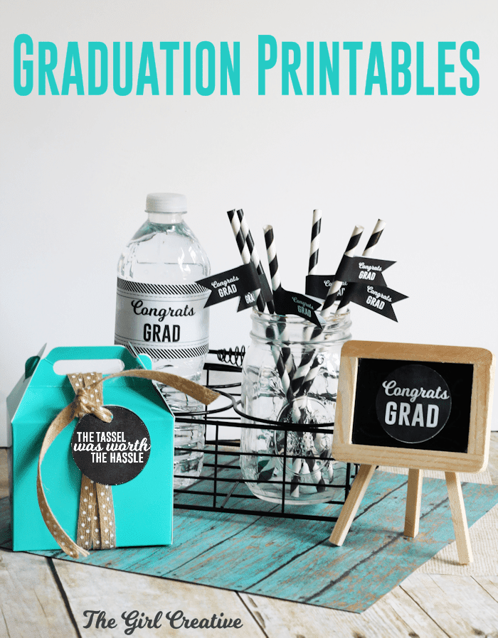 Free Graduation Printables By The Girl Creative The Party Teacher