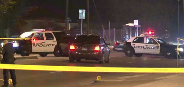 A man died Wednesday night after he ran into a street to get away from a gunman, was hit by a passing vehicle and shot by the suspect. The incident happened about 7 p.m. in the 9400 block of Cullen near Wilmington, according to the Houston Police Department. Photo: Metro Video