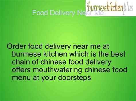 food delivery   nov