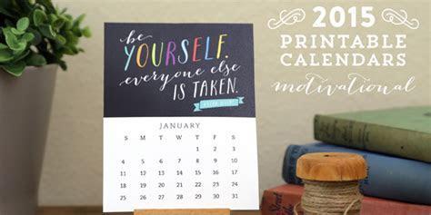 Free Printable Motivational Desk Calendar