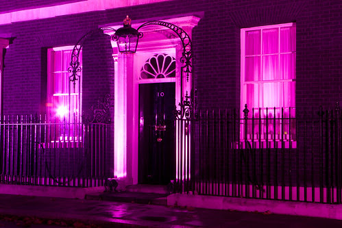 Breast Cancer Campaign - 10 Downing Street Illuminated Pink
