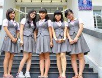 chân váy đồng phục học sinh,