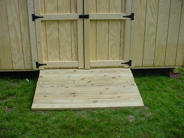 Build Shed Storage Shed Ramp Design