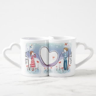 Whimsical Across the Miles Couples Mug