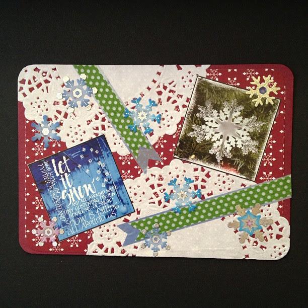 #doyle #washitape #snowflake #christmas #snailmail #postcard