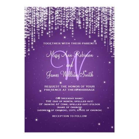 25  best ideas about Purple wedding invitations on