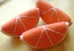 feltro fatias de laranja