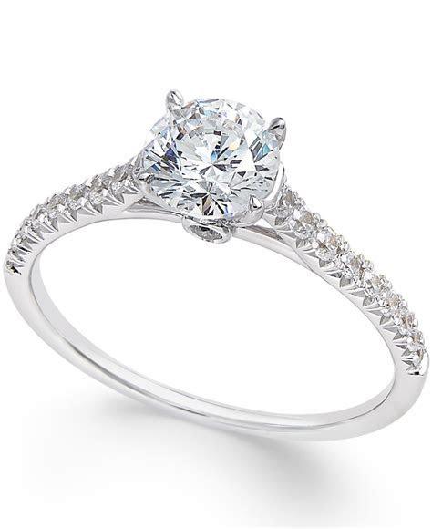 Macy's Diamond Engagement Ring (1 Ct. T.w.) In 14k White