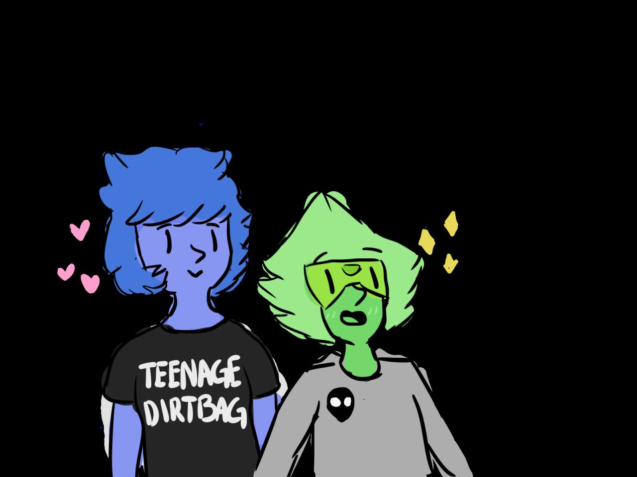 i doodled some lesbeans/…