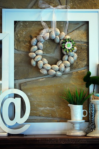Family Brings Joy's Book Page Egg Wreath