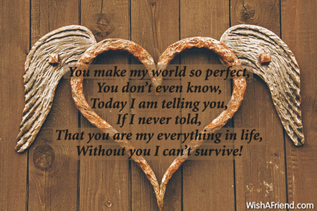 You Make My World So Perfect Love Message For Boyfriend