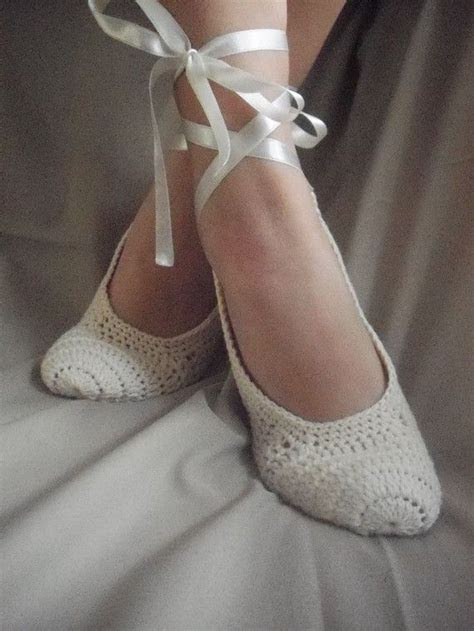 If you can crochet, you can make your own ballet slippers