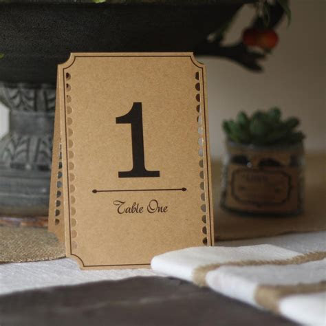 Brown Card Table Numbers Set Of 12 ? The Wedding of My Dreams