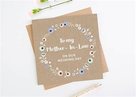 To My Mother In Law On Our Wedding Day Card   norma&dorothy