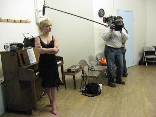 Julie Atlas Muz, CBS Camera Crew