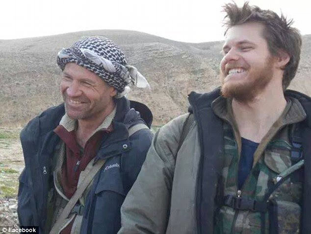 The final moments of Queensland man Ashley Johnston (right) have emerged, just before he was killed this week while fighting ISIS in northern Iraq