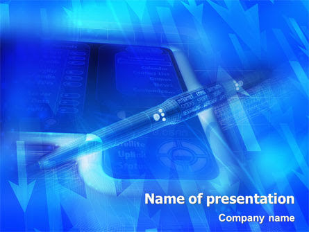 High Tech Digital Pen Presentation Template For Powerpoint And Keynote Ppt Star