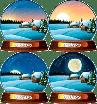 live christmas globe