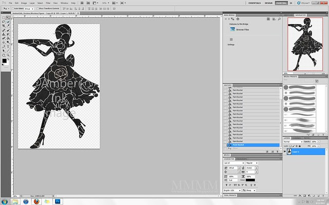 fill with pattern for a digital silhouette
