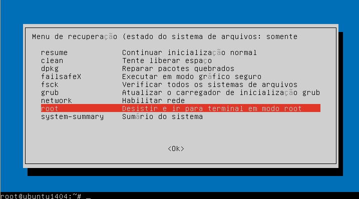 redefinir senha de usuário no Ubuntu