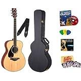 Yamaha FS720S Natural Small Body Folk Acoustic Guitar Bundle with Yamaha Hard Case, Instructional DVD, Picks,...
