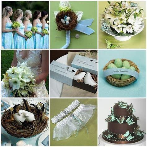 Garden Wedding Ideas   Bird & Butterfly Theme in Blue