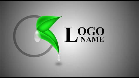 gimp tutorial design logo drop  water  tree