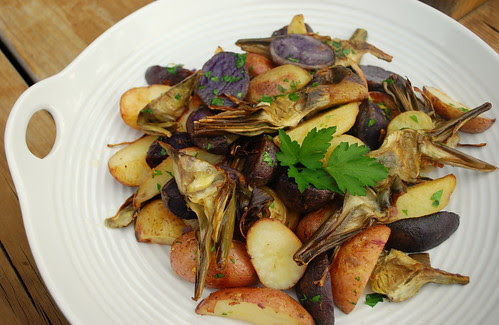 Roasted Potatoes with Artichokes FP