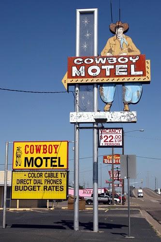 cowboy motel signage