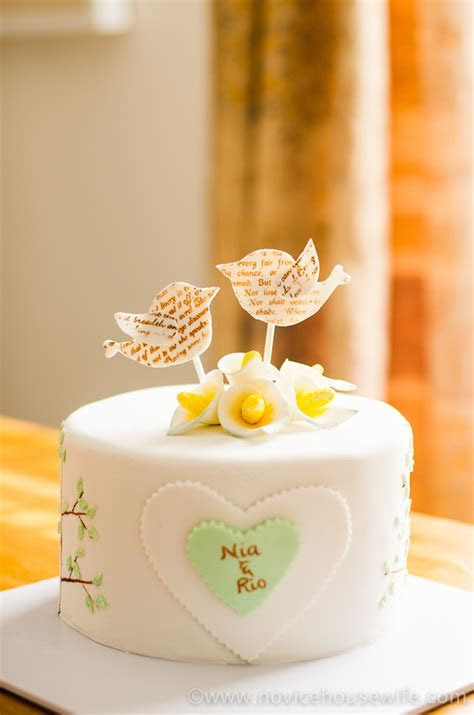 Bird and Tree themed Anniversary Cake   The Novice Housewife