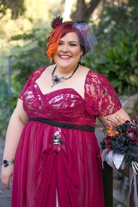 Amanda's Non Traditional Burgundy Wedding Dress   Strut