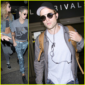 Robert Pattinson & Kristen Stewart Arrive in L.A. on Same Flight