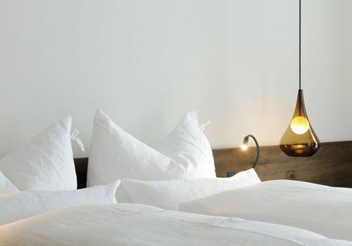 Lámparas colgantes de vidrio hotel Wiesergut